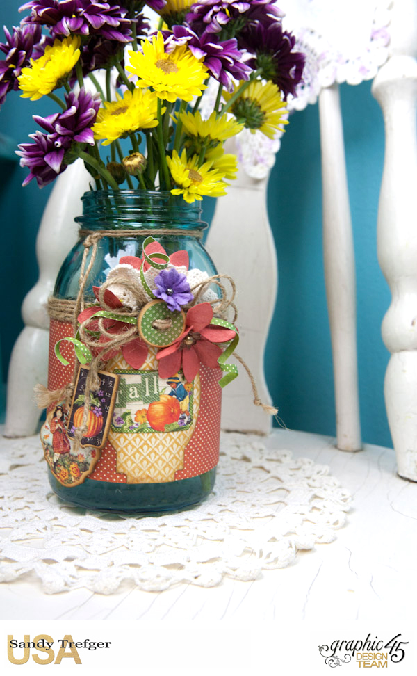 Flower Mason Jar, World's Fair, Children's Hour, by Sandy Trefger, Product by Graphic 45, Photo 004