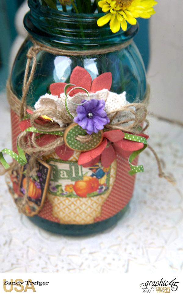 Flower Mason Jar, World's Fair, Children's Hour, by Sandy Trefger, Product by Graphic 45, Photo 006