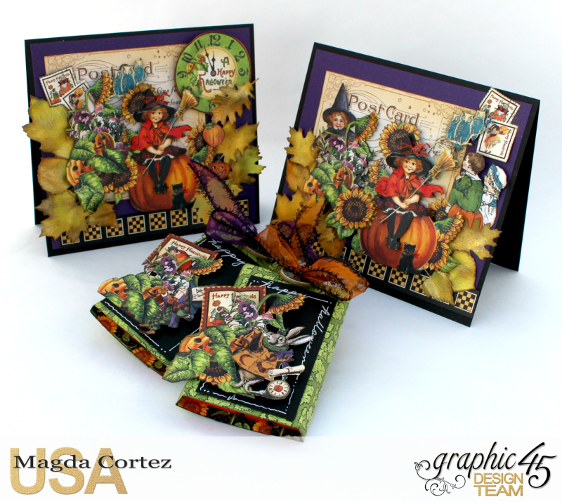 Halloween Cards _ Surprise-Happy Haunting-By Magda Cortez-Product by Graphic 45-Photo Photo 01_09-Project with Tutorial
