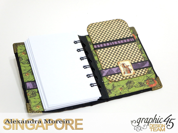 Halloween in Wonderland Notebooks and Boxes, Project by Alexandra Morein, Product by Graphic 45, Photo 11