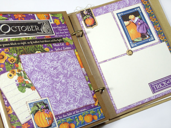 Try this free printable project sheet to make a Mixed Media Album with Children's Hour with pages for each month!
