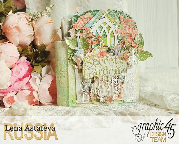 Pop-ap album-Secret Garden-by Lena Astafeva-Product by Graphic 45 -1