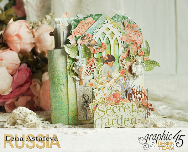 Pop-ap album-Secret Garden-by Lena Astafeva-Product by Graphic 45 -20