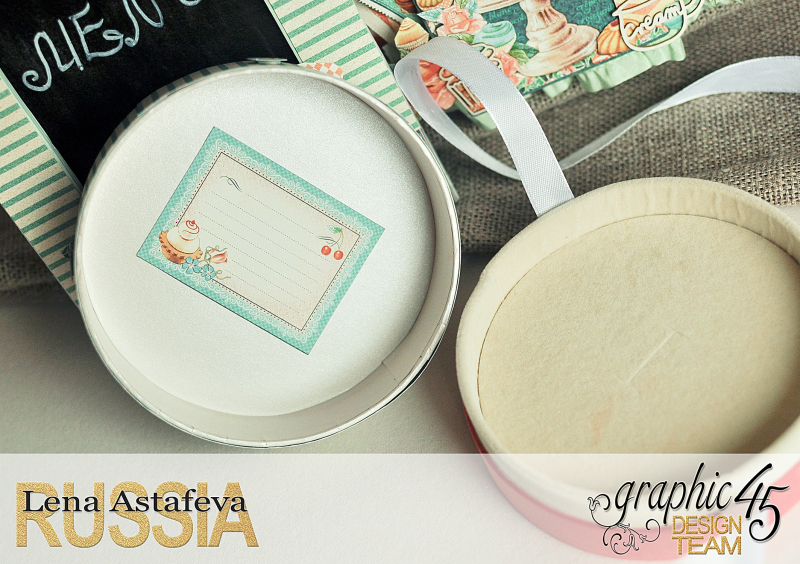Altered-artCafe Parisian- Tutorial byLena astafeva- products Graphic 45-21