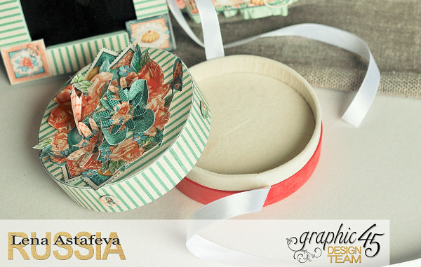 Altered-artCafe Parisian- Tutorial byLena astafeva- products Graphic 45-27