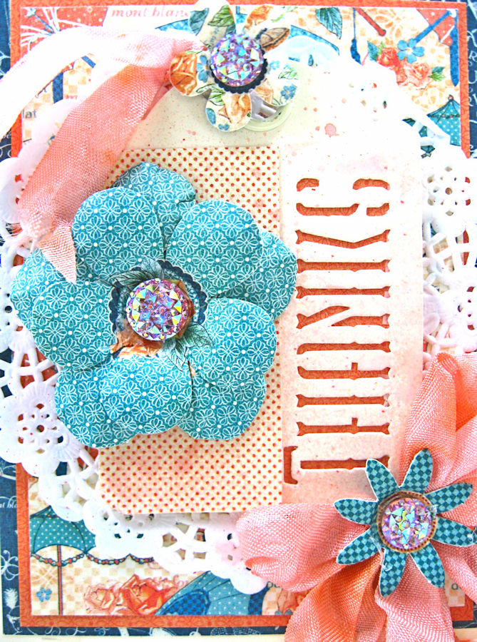 Quick and Easy Thank You Card Set Tutorial, Cafe Parisian, by Kathy Clement, Product by Graphic 45, Photo 5