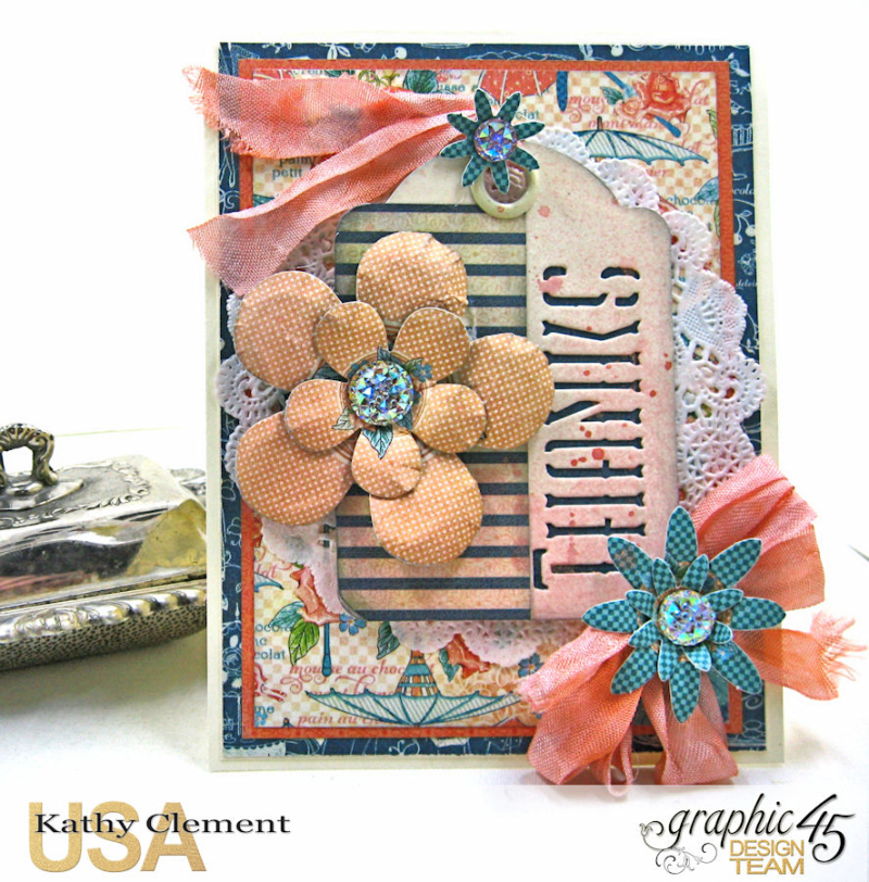 Quick and Easy Thank You Card Set Tutorial, Cafe Parisian, by Kathy Clement, Product by Graphic 45, Photo 3