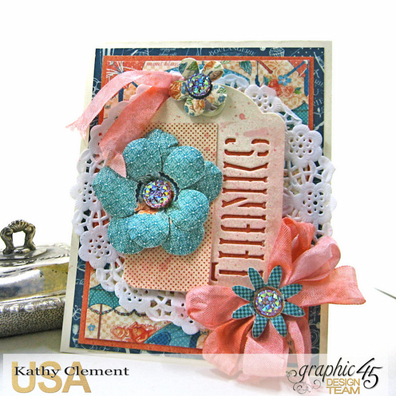 Quick and Easy Thank You Card Set Tutorial, Cafe Parisian, by Kathy Clement, Product by Graphic 45, Photo 4