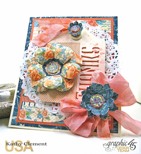Quick and Easy Thank You Card Set Tutorial, Cafe Parisian, by Kathy Clement, Product by Graphic 45, Photo 2