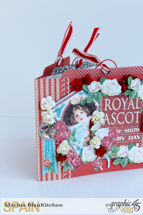 Mini Album Off to the Races Scrapbook Adhesives Blog Hop by Marina Blaukitchen Product by Graphic 45 photo 8