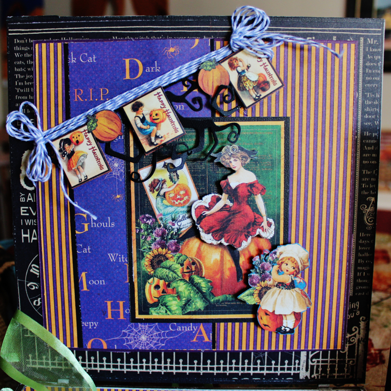 Graphic 45 Happy Haunting Pop Up Card and Box Tutorial - Pam Bray - Photo 3_1466