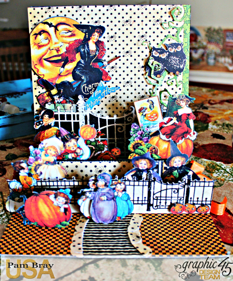 Graphic 45 Happy Haunting Pop Up Card and Box Tutorial - Pam Bray - Photo 5_1474