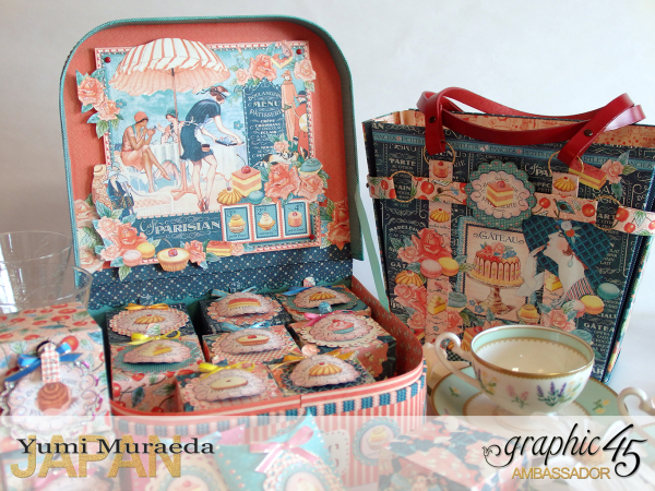 Thank you gift and Case Graphic45  Cafe Parisian  by Yumi Muraeada Product by Graphic 45 Photo11