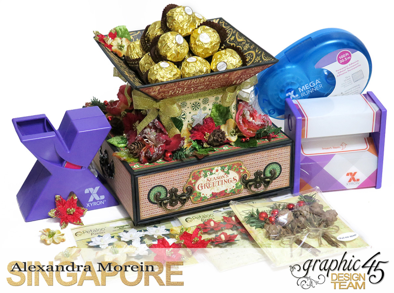 St.Nicholas Candy Stand,Project by Alexandra Morein, Product by Graphic 45, Photo 1