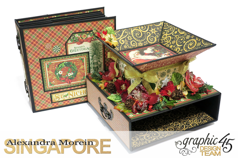 St.Nicholas Candy Stand,Project by Alexandra Morein, Product by Graphic 45, Photo 6