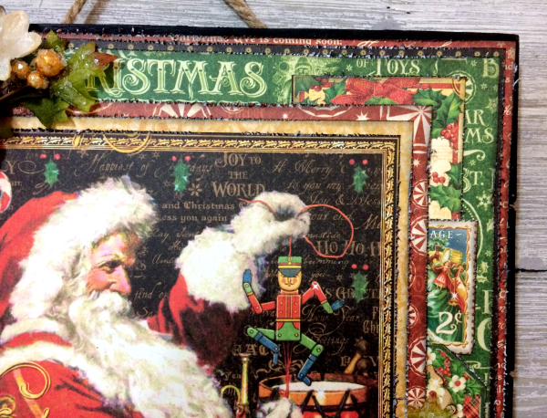 Wall Hanging, St.Nicholas, By Katelyn Grosart, Product by Graphic 45, Petaloo & Xyron, Photo 3