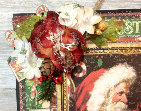 Wall Hanging, St.Nicholas, By Katelyn Grosart, Product by Graphic 45, Petaloo & Xyron, Photo 4