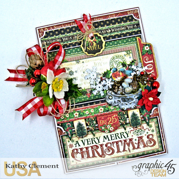 Very Merry Christmas Card Tutorial, Saint Nicholas, by Kathy Clement, Product by Graphic 45, Photo 10