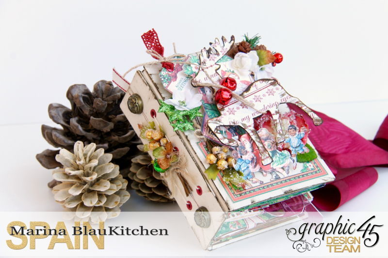December Daily Album St. Nicholas Petaloo and Xyron Blog Hop by Marina Blaukitchen Product by Graphic 45 photo 0