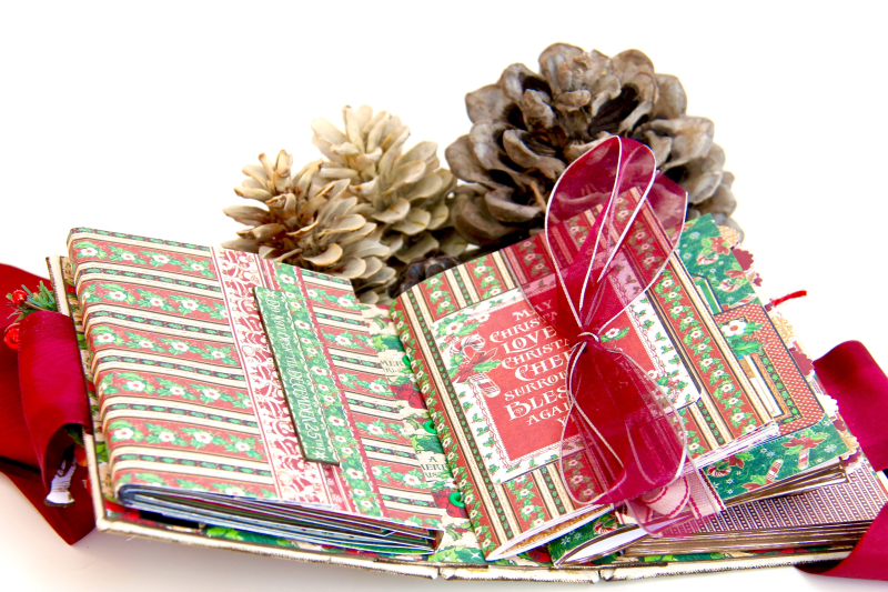 December Daily Album St. Nicholas Petaloo and Xyron Blog Hop by Marina Blaukitchen Product by Graphic 45 photo 23