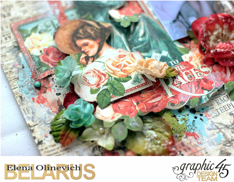 About Roses Layout, Off to the Races, by Elena Olinevich, product by Graphic45, photo03