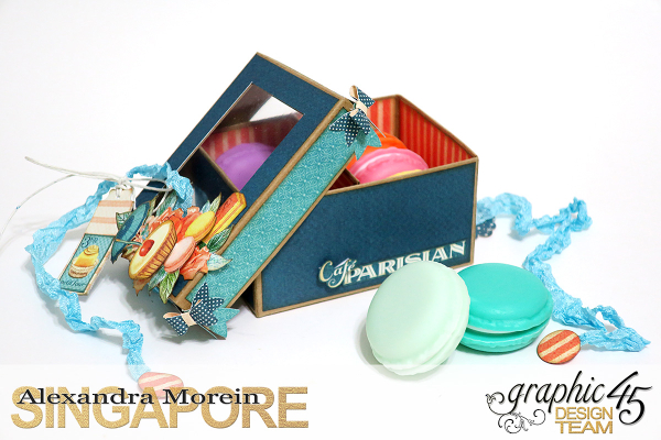 Cafe Parisian Card and Box, Project by Alexandra Morein, Product by Graphic 45, Photo 5