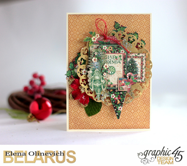 Mixed Media Christmas Card, St. Nicholas, by Elena Olinevich, Product by Graphic45, Photo_1