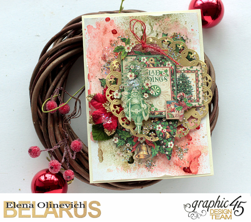 Mixed Media Christmas Card, St. Nicholas, by Elena Olinevich, Product by Graphic45, Photo_1a