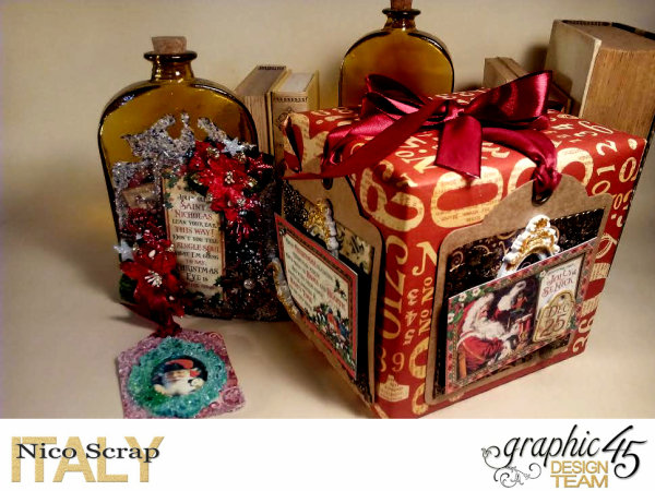 Christmas present , Saint Nicholas collection, project by Nico Scrap, Product by Graphic 45, Photo 1