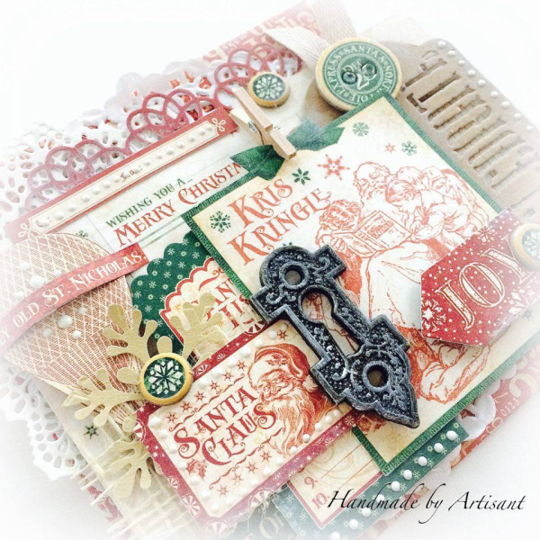 St.Nicholas Christmas Envelope trio for Graphic 45, by Aneta Matuszewska, photo 8