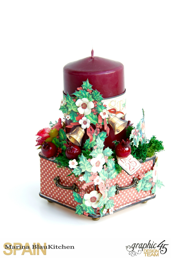 Christmas Candle St Nicholas by Marina Blaukitchen Product by Graphic 45 photo 12