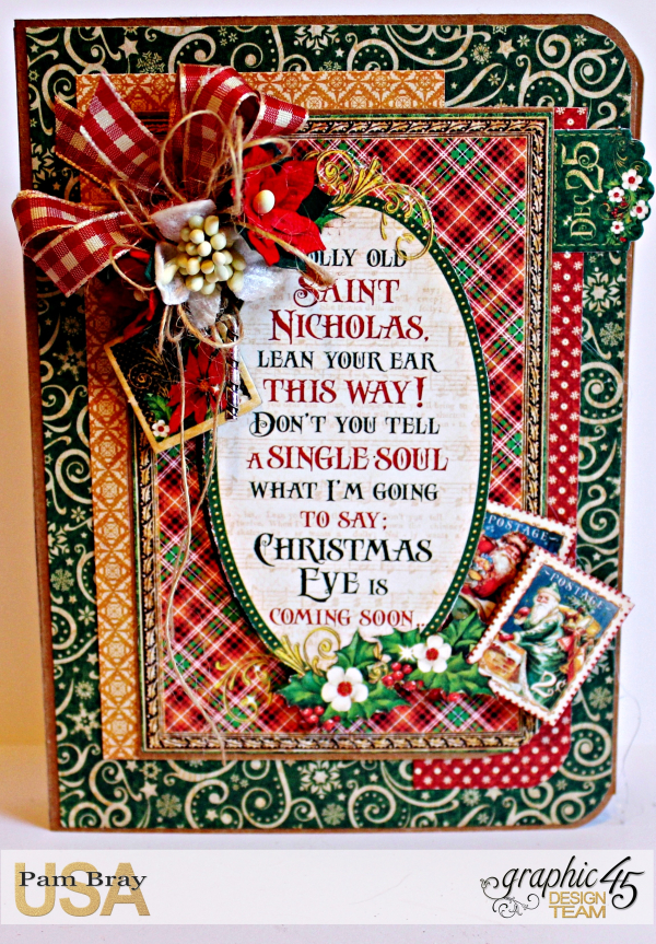 Graphic 45 St Nicholas Sweet Treats Card with Tutorial by Pam Bray Photo 10_3051