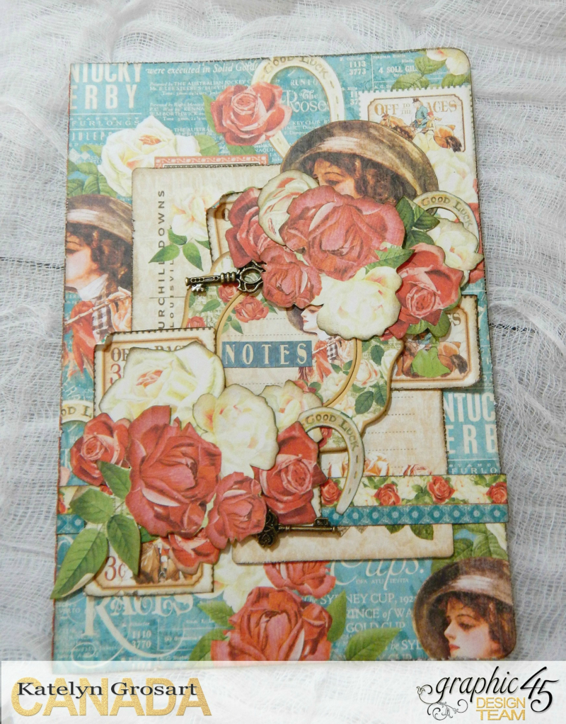 Notebooks, Off To The Races, Tutorial By Katelyn Grosart, Product By Graphic 45, Photo 2