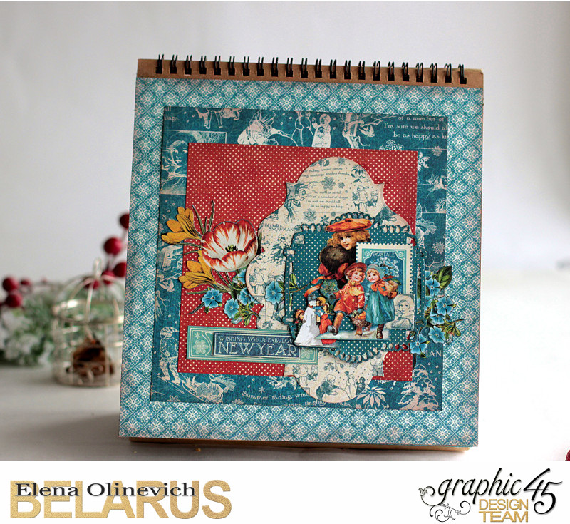 Easel Calendar, Children's Hour, by Elena Olinevich, product by Graphic45, photo7