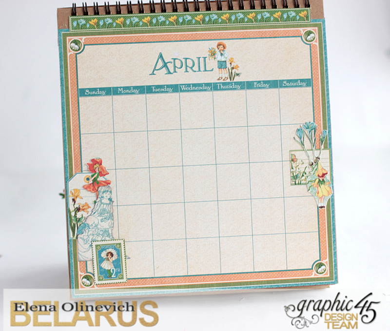 Easel Calendar, Children's Hour, by Elena Olinevich, product by Graphic45, photo15
