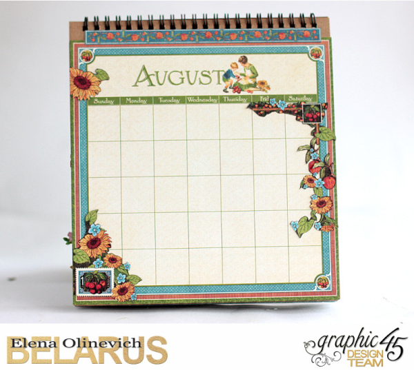 Easel Calendar, Children's Hour, by Elena Olinevich, product by Graphic45, photo19