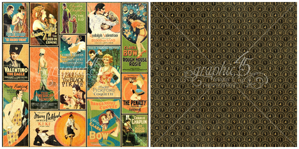 5 - Tinseltown, a page from our new Graphic 45 collection, Vintage Hollywood!