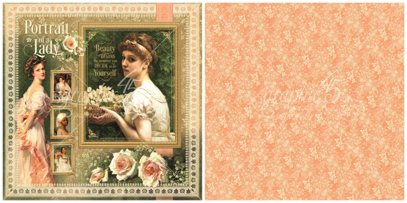 1 - Portrait of a Lady signature page, a new collection from Graphic 45!