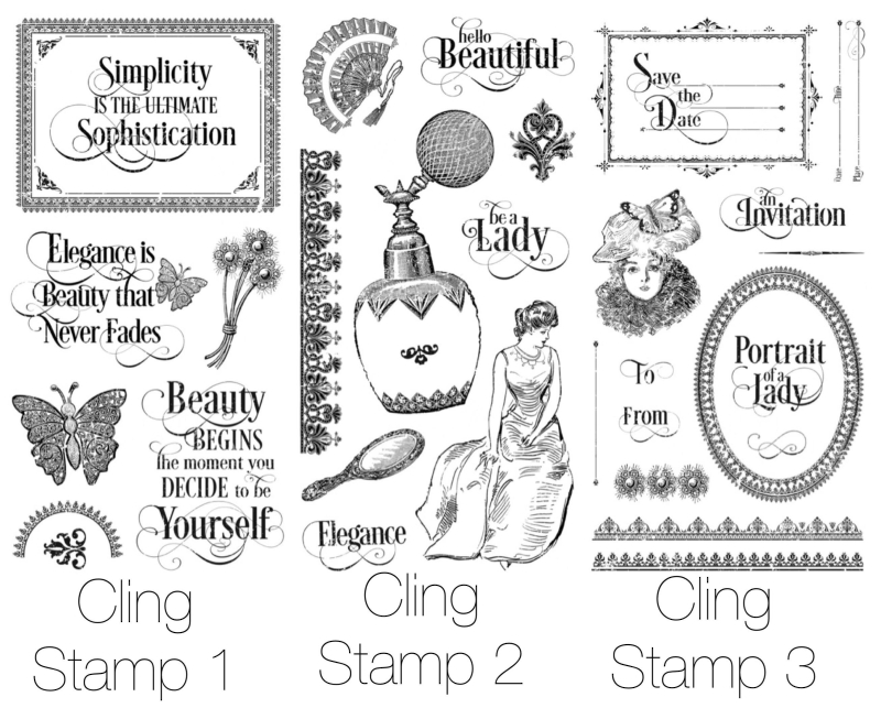 Portrait of a Lady Cling Stamps from Graphic 45 & Hampton Art