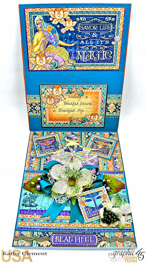 Beautiful Person Birthday Shaker Card, Midnight Masquerade, by Kathy Clement, Product by Graphic 45, Photo 8