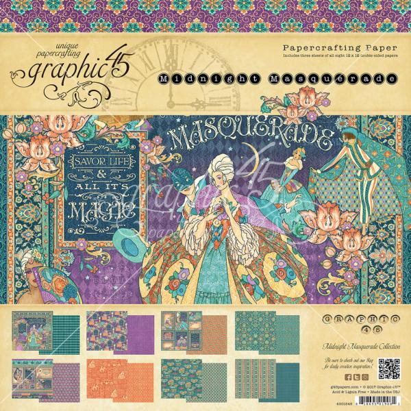 Midnight Masquerade 12x12 Paper Pad
