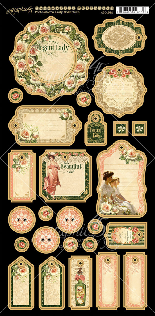 Portrait of a Lady Journaling Chipboard