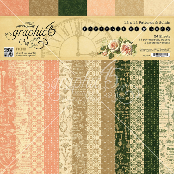 Portrait of a Lady Patterns & Solids Paper Pad