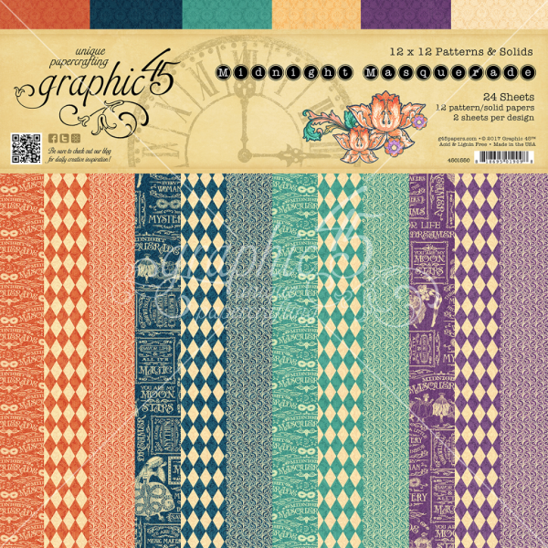 Midnight Masquerade Patterns & Solids Paper Pad from Graphic 45