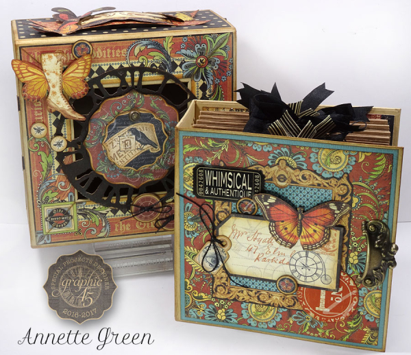 Olde Curiosity Shoppe Deep Square Matchbook Box & Square Tag Album by Annette Green
