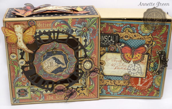 Olde Curiosity Shoppe Deep Square Matchbook Box & Square Tag Album by Annette Green-2