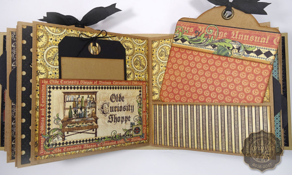 Olde Curiosity Shoppe Deep Square Matchbook Box & Square Tag Album by Annette Green-5