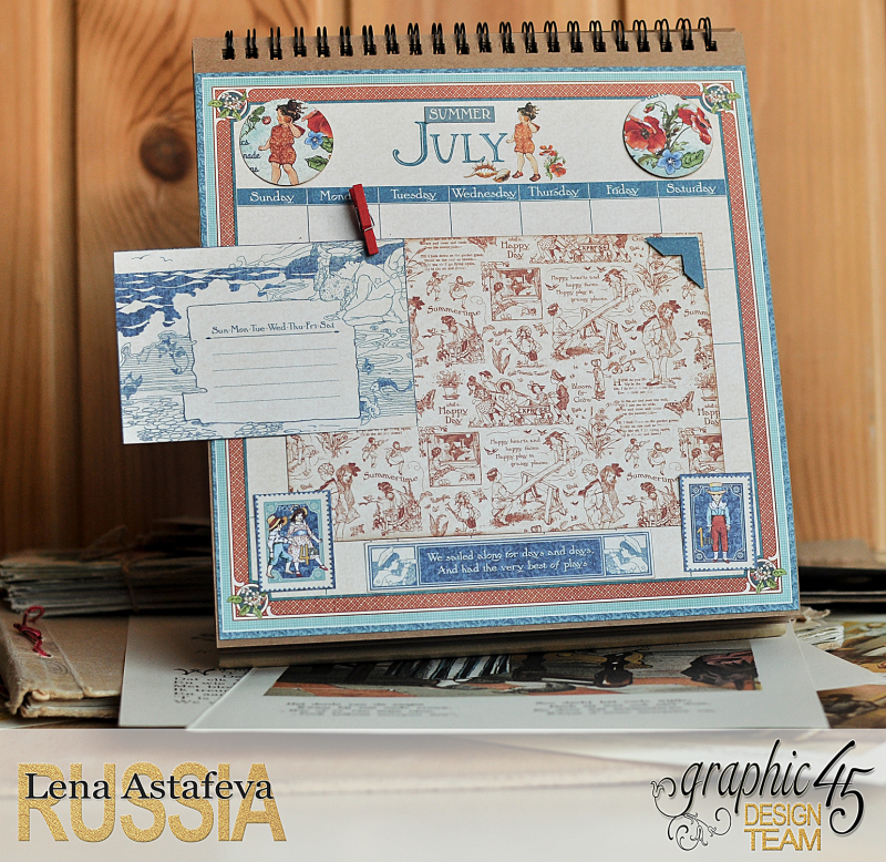 Calendar- Children's hour- by Lena Astafeva-products by Graphic 45 (14 из 26)