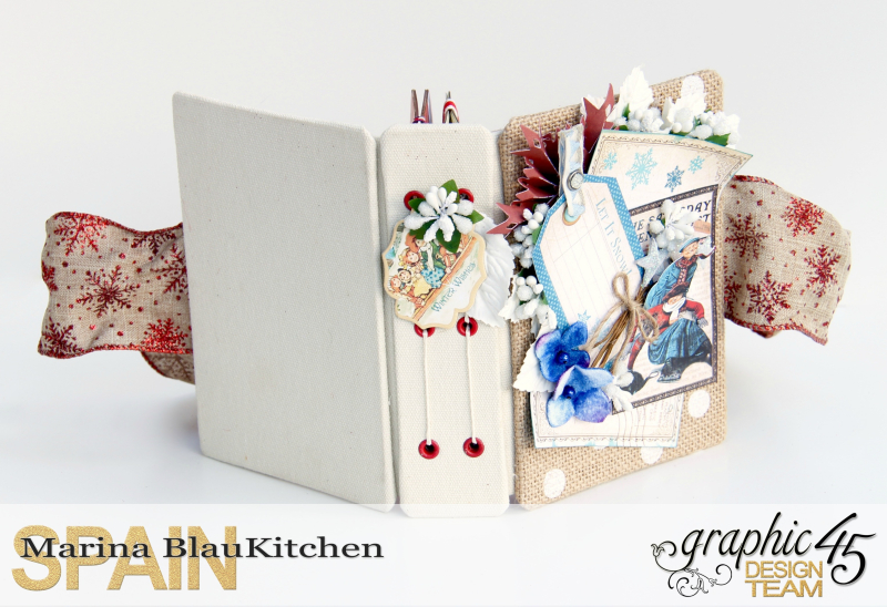 Winter-themed Diary Album Place in Time by Marina Blaukitchen Product by Graphic 45 photo 10