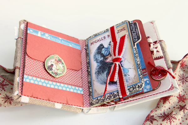 Winter-themed Diary Album Place in Time by Marina Blaukitchen Product by Graphic 45 photo 6